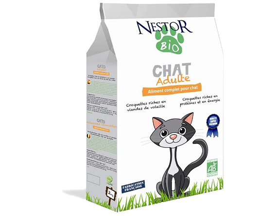 Croquettes Nestor Bio chats - Croquettes chats adultes