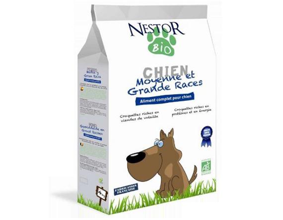 Croquettes Nestor Bio chiens - Croquettes chiens moyennes et grandes races