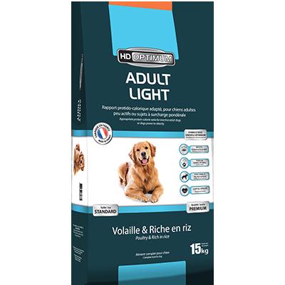 Adult Light – Croquettes pour chiens – Gamme HD Optimium